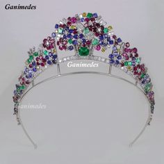Cartier Tiara-stunning array of gemstones  A marvelous example of the 'tutti frutti' style.