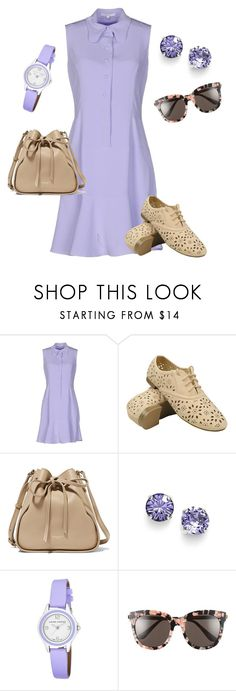 """""""Lovely lavender day trip"""" by denise-grimes ❤ liked on Polyvore featuring Carven, Nina Ricci, L. Erickson, Laura Ashley and Gentle Monster"""