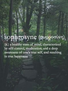 What a beautiful word and beautiful meaning! Self awareness
