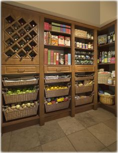 My pantry would be bigger than my kitchen!  I can still drool over it...Kitchen, Pantry, Laundry Room Storage Solutions and Home Organizing Options