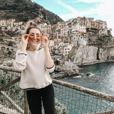 Thrifted top and LuLu Lemons! Cinque Terre, Thrifting, Beautiful Places, Actors, Unique, Top, Travel, Instagram, Style