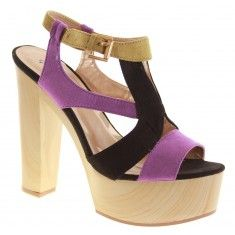 Lavender Infusion Ankle Strap Wedge Heels
