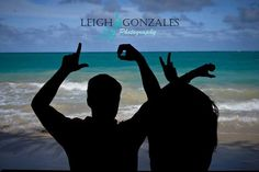 LOVE Beach couples photo session. Oahu, Hawaii. www.facebook.com/LeighGonzalesPhotography