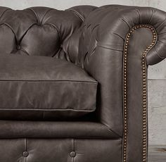 The Petite Kensington Leather Corner Sectional