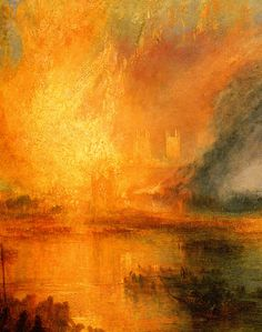 William Turner (1775-) English landscape artist ahead of his time. Very controversial in his day, he elevated landscape painting to rival historical paintings.  Many  scholars believe that he was the Romantic predecessor to Impressionist art.  Often called 'the painter of light'. I love the brilliant colors in this piece, and the light that it emits.