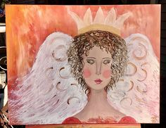 Intuitive art painting acrylic on studio canvas