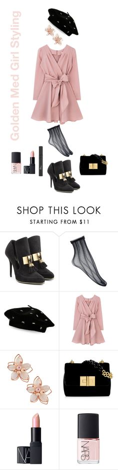 """""""Tassel loafers heels"""" by tina-pencinger ❤ liked on Polyvore featuring Balmain, Falke, Steve Madden, NAKAMOL, Christian Dior, NARS Cosmetics, chic, stylish, balmain and tasselLoafers"""