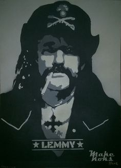 Lemmy Kilmister Stencil Art PopArt Graffiti MAKE KOKS