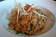 Classic Pad Thai at Ngam, NYC. This is what Amiah and LittleMwa had-and devoured it!