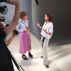 The Telegraph's LIsa Armstrong with Victoria Beckham