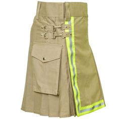 Fire Fighter ‪#Utility‬ ‪#Kilt‬ The Fire Fighter Utility Kilt is here to save the day when it comes time for you to head into action to battle a fire or do another dangerous task! The front of this utility kilt features neon yellow reflective trim that allows you to be easily spotted by team members and by vehicles. #RoyalKilt‬