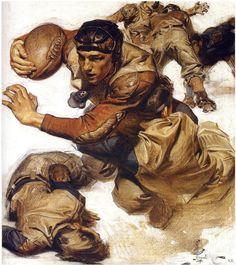 J.C. Leyendecker - 1904 … the tackle!