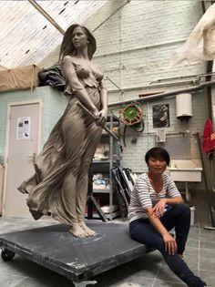 Les Sculptures féminines inspirées de la Beauté gracieuse de l'Art de la Renaissance par Luo Li Rong (3)