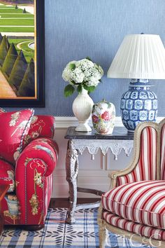 Tour a Fairfield County Colonial with a Bright, Bold Palette