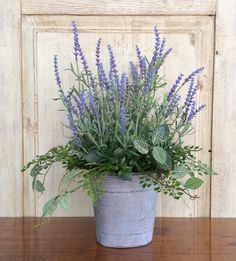 Lavender Basket-Lavender Arrangement-French by ReginasGarden