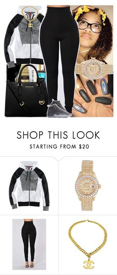 """"""""""" by theyloverin ❤ liked on Polyvore featuring H&M and Rolex"""