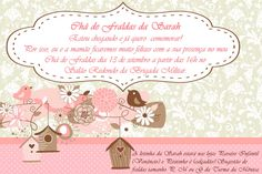 Convite Chá de Fraldas de Sarah