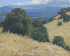 Foothill Gold by Kathleen Dunphy Oil ~ 8 x 10 Landscape Art, Landscape Paintings, River Painting, Fields Of Gold, Miles To Go, Modern Landscaping, Nymph, Northern California, Blue Bird