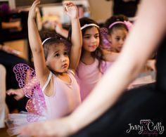 Eager little ballerina