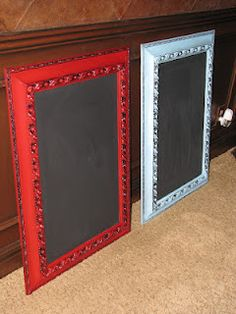 Making chalkboards with Jennifer @ Magic Brush.