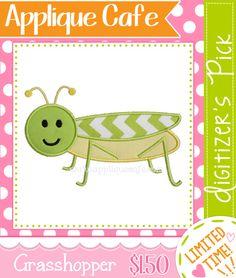 Grasshopper Applique Design