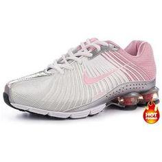 c4a0b4d6db8a61 Chaussures Nike Shox Blanc  Rose -   Nike Chaussure Pas Cher