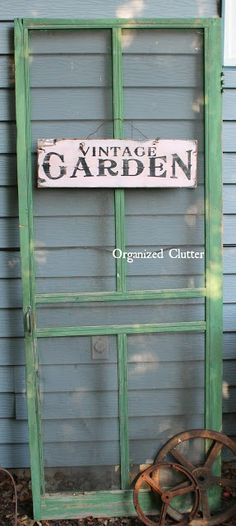 I love this old screen door and sign from Organized Clutter.