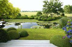 Modern garden design – The way to your own dream garden … - Modern Back Garden Design, Modern Garden Design, Contemporary Garden, Landscape Design, Modern Landscaping, Backyard Landscaping, Back Gardens, Outdoor Gardens, Backyard Ideas For Small Yards