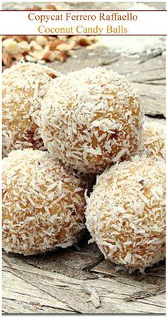 Homemade version of Ferrero Raffaello's famous Coconut Candy Balls.