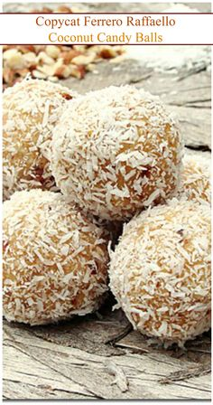 Homemade version of Ferrero Raffaello's famous Coconut Candy Balls.