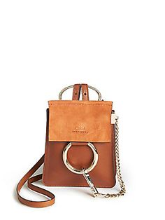 Chloé Faye Mini Leather & Suede Bracelet Crossbody Bag