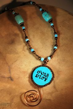 Uwoduhi adanvto in Cherokee language means beautiful spirit or beautiful heart. What better way to honor a special someone?    On a 30mm turquoise