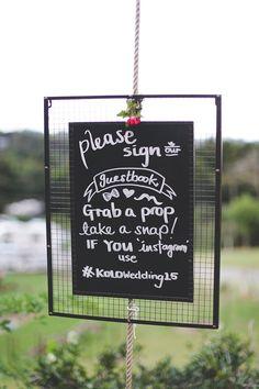 guestbook wedding sign