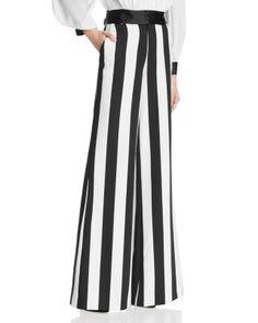 ALICE AND OLIVIA Paulette Striped Pants. #aliceandolivia #cloth #pants