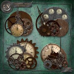 Steampunk Scrapbook embellishments.