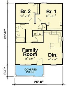 Our small house plans under 1000 sq. showcase floor plans that maximize space to make the most of your new home. Search our small house plans to find the right blueprints for you - we carry styles that range from traditional to modern. Small House Floor Plans, Cottage Floor Plans, Cottage Style House Plans, Craftsman Style House Plans, Cottage House Plans, Cottage Homes, The Plan, How To Plan, 800 Sq Ft House