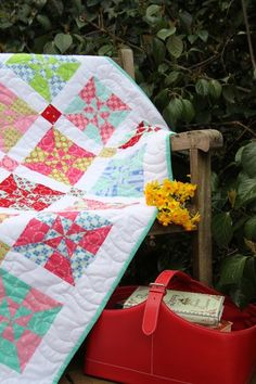Pinwheel Quilt - love the colors, and her blog has interesting links on it.
