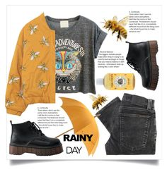 """""""bees hate the rain"""" by cubukkrakker ❤ liked on Polyvore featuring Nudie Jeans Co. and Hermès"""