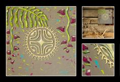 """""""Passionné"""" Acrylique sur toile 30x30cm - Motifs en relief - Made in Tahiti"""
