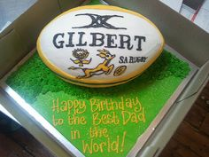 I want a rugby cake for my birthday! 6th Birthday Parties, Baby Birthday, Rugby Cake, South Africa Rugby, Team Snacks, Sport Cakes, Word 3, Best Dad, Cake Ideas