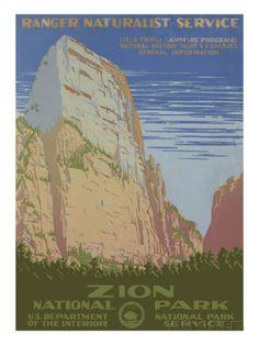 Zion National Park, c.1938 Art Print