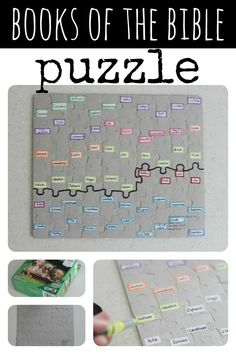 DIY Books of the Bible Puzzle. Helpful for memorizing the books of the bible. #childrens #ministry
