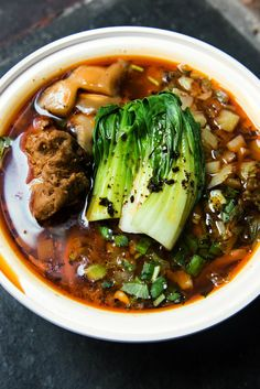 The Vegan noodles with mock duck at Very Fresh Noodles in Chelsea Market. (Photo: Liz Barclay for The New York Times)
