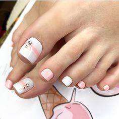 Pretty Toe Nails, Cute Toe Nails, Acrylic Toe Nails, Toe Nail Art, Gel Nails, Summer Toe Nails, Summer Acrylic Nails, Pedicure Designs, Toe Nail Designs