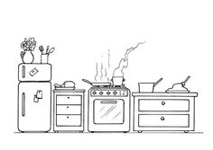 A coloring page, decorate your own kitchen from @Lindsay Dillon Ann ...