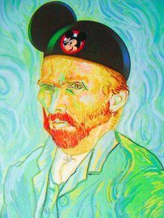 Vincent Van Gogh at Disney World. LOL.