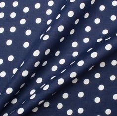 Navy Blue White Spotted Linen