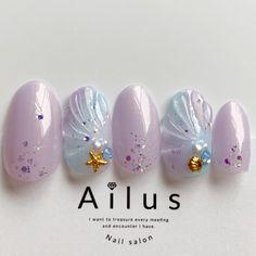 Nail Art Designs 💅 - Cute nails, Nail art designs and Pretty nails. Pink Ombre Nails, Pastel Nails, Seashell Nails, Asian Nails, Witch Nails, Korean Nail Art, Hello Kitty Nails, Japanese Nail Art, Japanese Nail Design