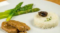 Amelia Gardaś: Polędwiczka wieprzowa w sosie śliwkowym Amelie, Grains, Rice, Adidas, Food, Eten, Seeds, Meals, Korn