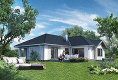 Projekt domu Aurelia Polo - murowana – ceramika 140,7 m2 - koszt budowy - EXTRADOM Shed, New Homes, Polo, Outdoor Structures, House Design, Outdoor Decor, Home Decor, Lean To Shed, New Home Essentials